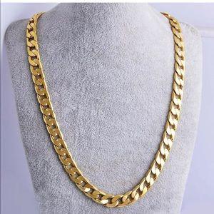 Fashion necklace gold color